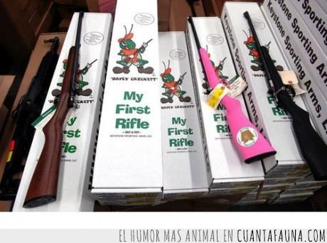 arma,escopeta,grillo,infantil,mi forst rifle,navidad,pistola,regalo,rifle