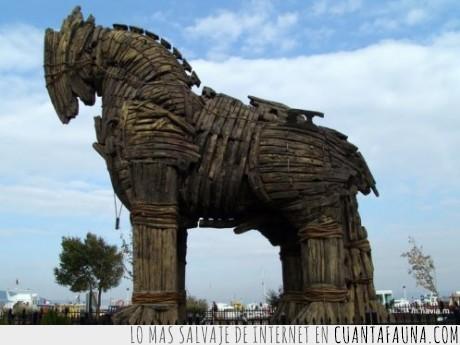 caballo,niñas,troya