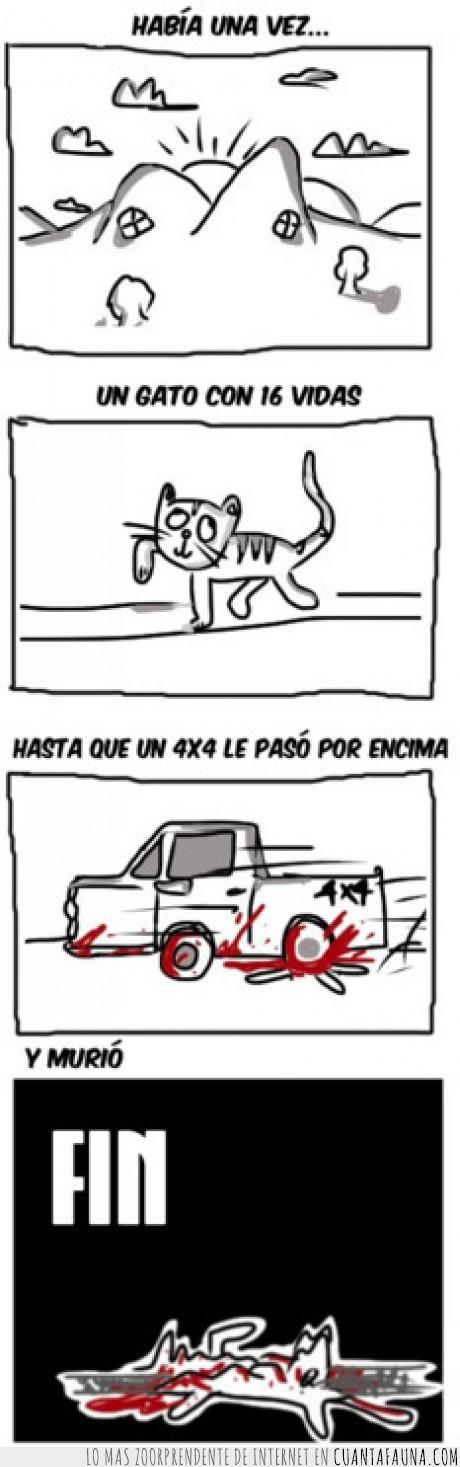 4x4,gato,muerte