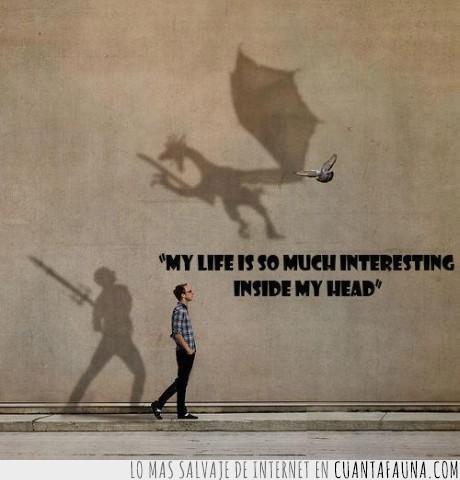 dragon,espada,friki,imaginacion,interesante,luchar,mente,paloma,skyrim,vida