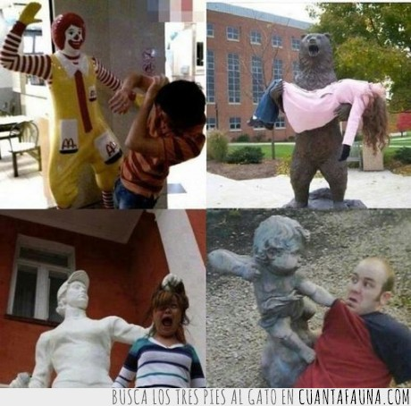 ángel,ataque,estatua,hostia,invasion,macdonald,oso,ronald,zombie