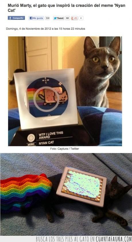 gato,minuto de silencio,muere,nestinino,nyan cat