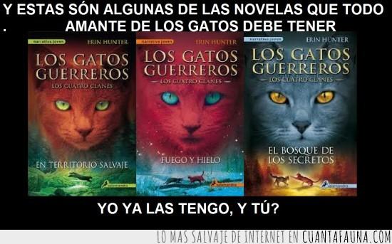 gatos guerreros,Herin Haunter,las tres primeras novelas,Warrior cats