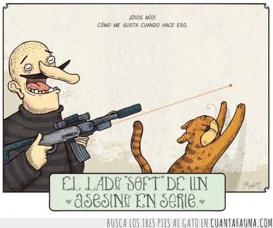 arma,asesino,en,gato,laser,maldad,matar,rifle,serie
