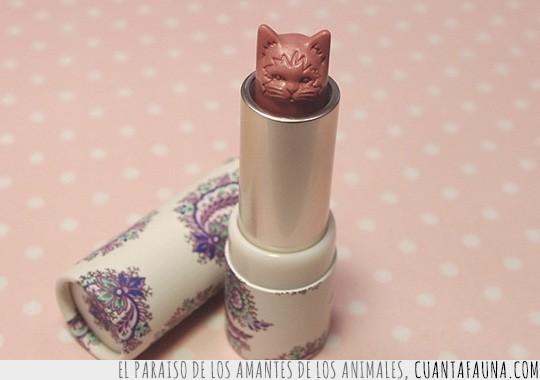 barra de labios,gato,lipstick,pintalabios,tallado,tallar,vintage