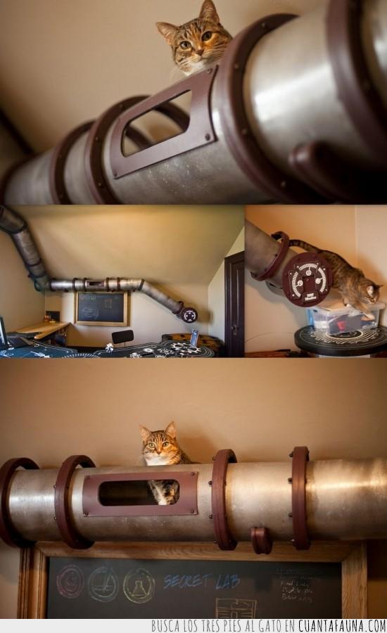 cobre,frikada,gatito,mola mazo,quiero uno,steampunk,tubería