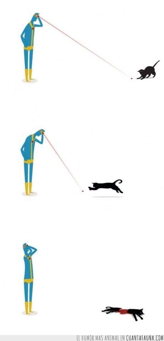 ciclope,comic,gato,laser,matar,rojo,x-men,xmen