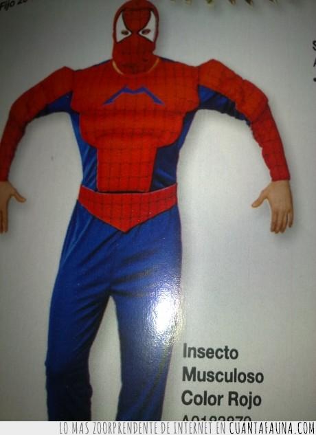 Carnaval,Copyright,Insecto,Revista de disfraces,Rojo,Spiderman,Superheroe