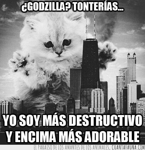 arrasar,ciudad,destruir,edificios,gigante,godzilla,monstruo