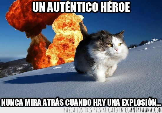 explosión,heroe,nieve,no mirar atras