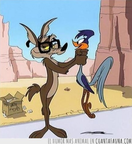 correcaminos,coyote,dibujos,infancia arruinada,mentira