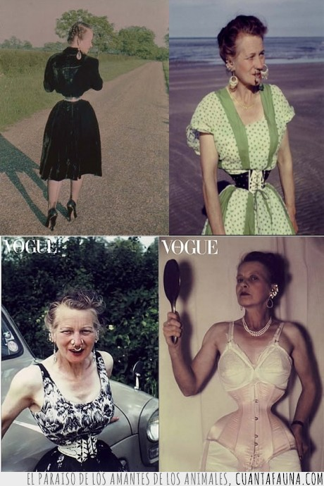 avispa,cintura,corse,ethel granger,más pequeña,mundo,señora diabolo,tiene cara de abuelilla entrañable,vogue