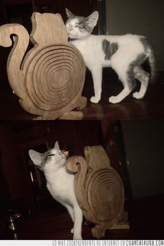 amor,corazón,enamorado,figura,gatito,gato,madera
