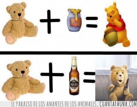 cerveza,miel,osito,oso,peluche,suma,ted,winnie the pooh