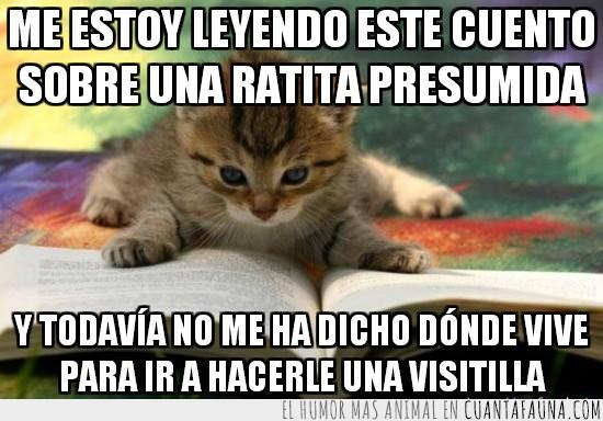 Gato,La ratita presumida,Lectura,Leer,Libro
