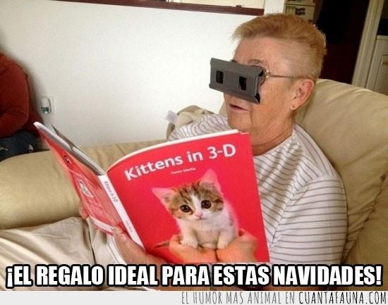 3D,Abuela,Cuento,Gafas,Gato,Libro,Revista