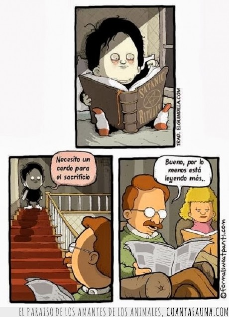 cerdo,gotico,lectura,leer,matar,ritual satanico