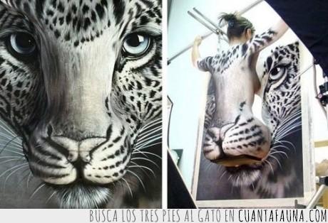 arte,body,chica,felino,guepardo,impresionante,leopardo,painting,pintar