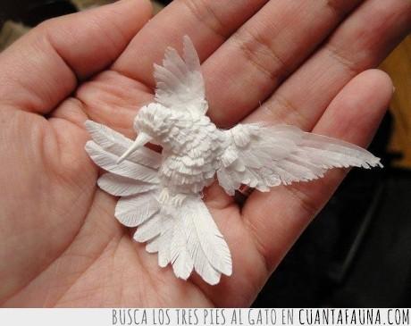 arte,colibri,papel