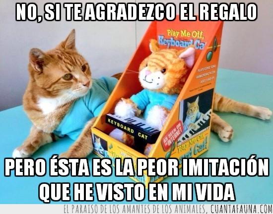 imitacion,internet,keyboard cat,muñeco,navidad,peluche,regalo