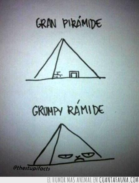 dibujo,gran piramide,grumpy ramide,juego de palabras