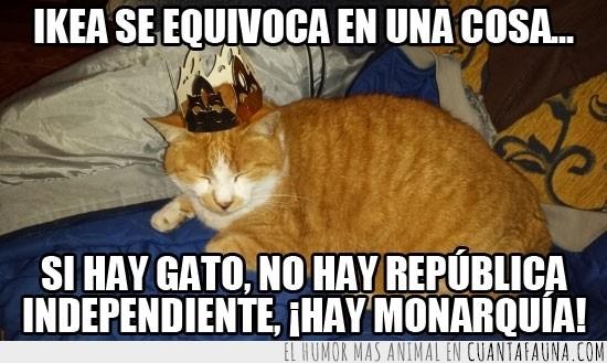 corona,gato,ikea,monarquia,republica