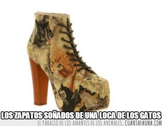 encantar,estampado,gatos,hombres,quiero unos,razón,tacones,zapatos
