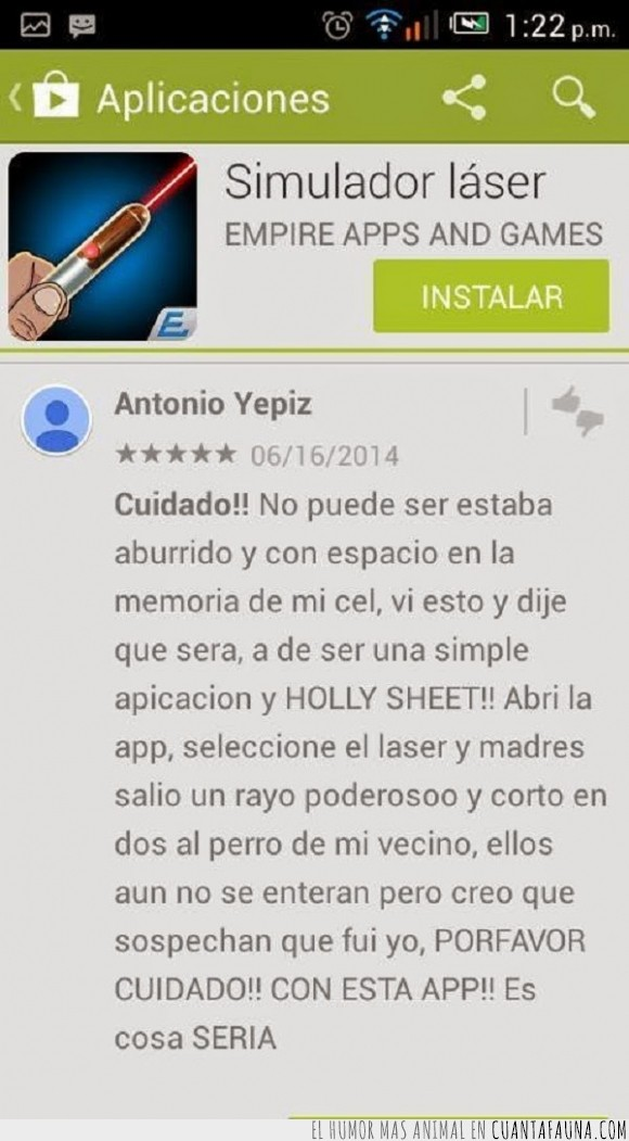 android market,app,gato,letal,matar,peligro,rasho laser,rayo,vecino