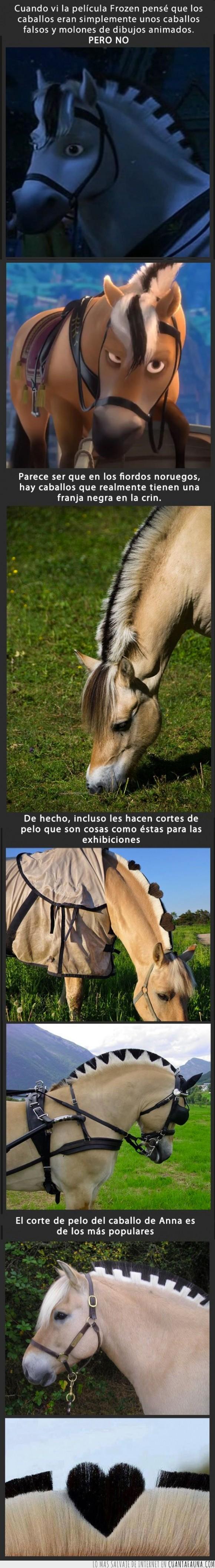 anna,caballo,crin,forma,frozen,medio,negro,peinado,rubio
