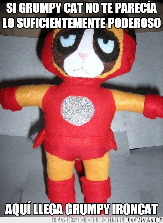 cat,gato gruño,Grumpy,IronCat,IronMan,muñeco,peluche
