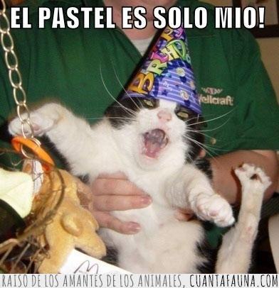ansias,cumpleaños,egoista,fiesta,pastel,repartir