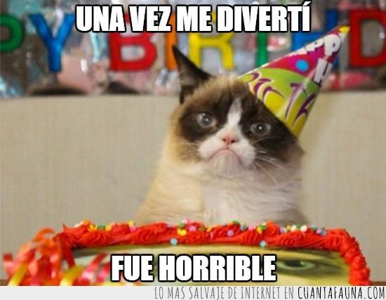 cumpleaños,diversión,fiesta,grumpy cat