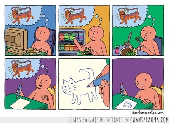 dibujar,dibujo,felino,gato,lagrima,llorar,tigre