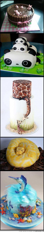cerditos,geniales,jirafas,me quedaría con las jirafas,océano,pandas,pasteles,serpiente