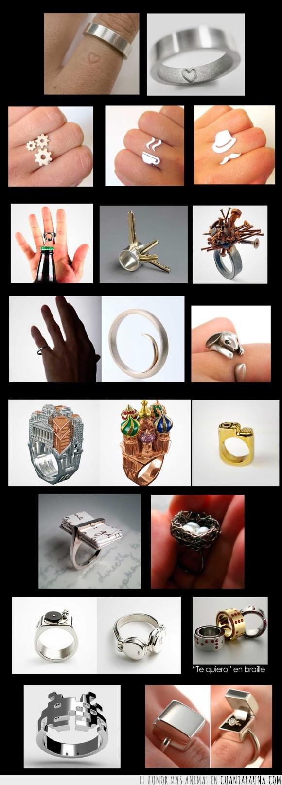 alianza,anillos,arquitectura,braille,conejo,diseño,mechero,nido,pedida,space invader
