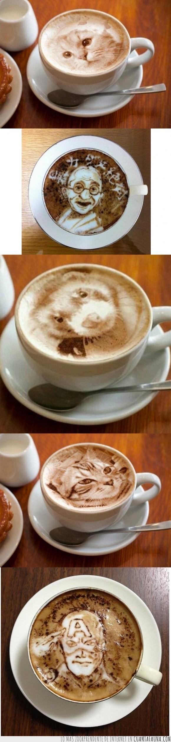 animal,arte,cafe,capitan america,desayuno,dibujar,ferret,gatos,huron,no tengo muy claro que los gatos no sean photoshop