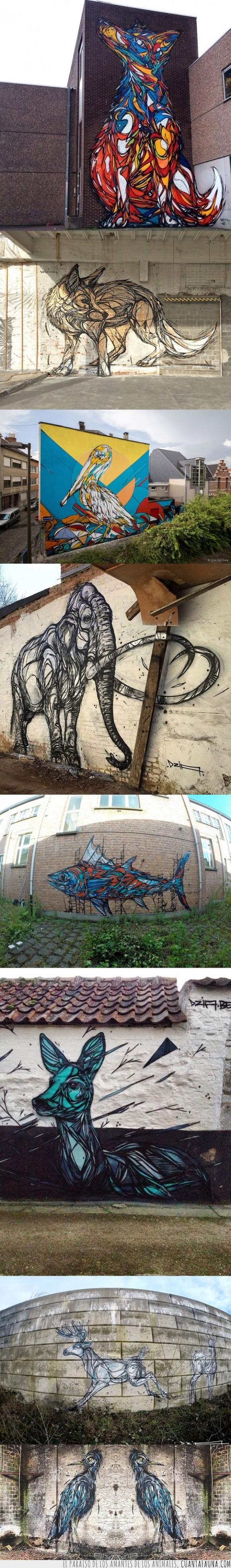 animal,arte,ave,ciervo,ciudad,Dzia,geometria,graffitero,graffiti,ilustracion,naturaleza,urbano