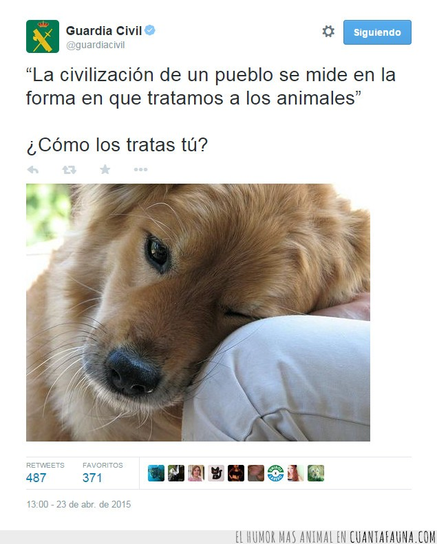 animales,civilizados,guardia civil,respeto,tratar
