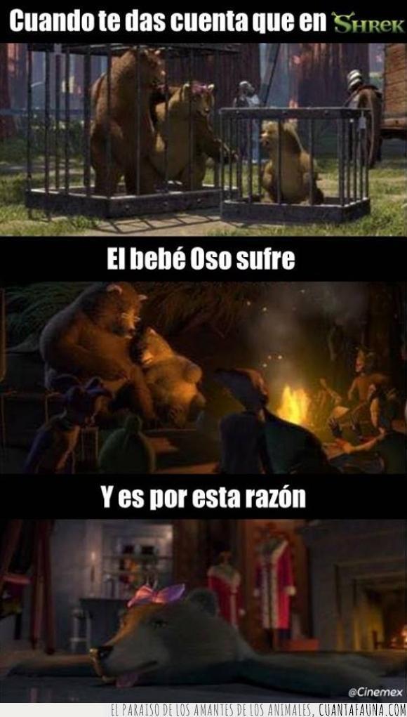 2001,detalle,en realidad la saqué del FB de Cinemex,esto es una etiqueta,mamá osa,osito,osos,papá oso,película,Shrek,tapete