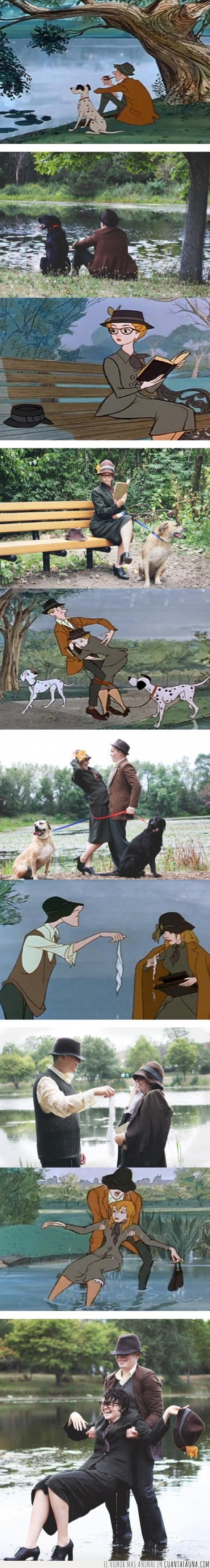 101 dalmatas,amor,disney,historia,película,perros,tierna