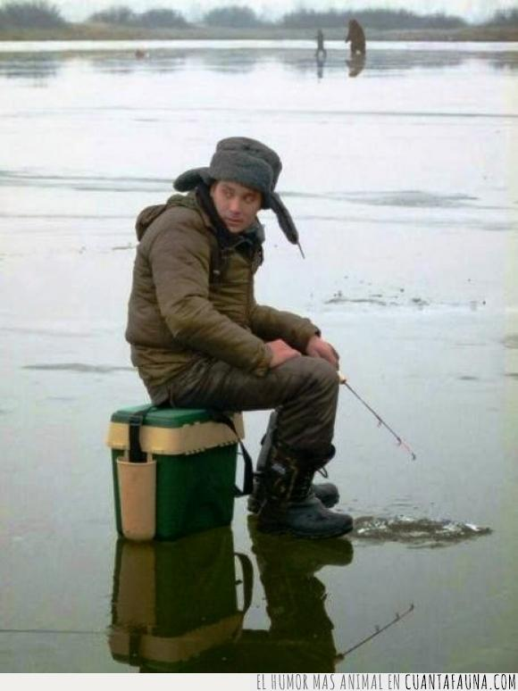 cebo,detras,Isaäk en ruso significa se reirá,mucho,oso,perseguir,pescador,pescar,se reirá