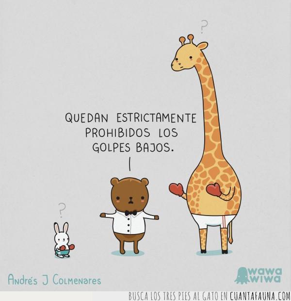 animales,conejo,grafico,humor,jirafa,viñeta