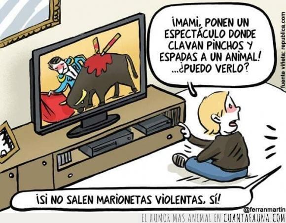 animal,marioneta,sufrimiento,tauromaquia,television,torero,toro,ver,violenta