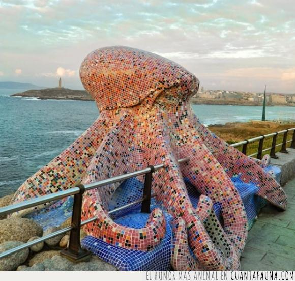 escultura,Galicia,mosaico,pulpo