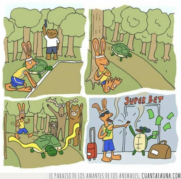 apuestas,correr,cuento,fabula,ganar,historia,liebre,tortuga