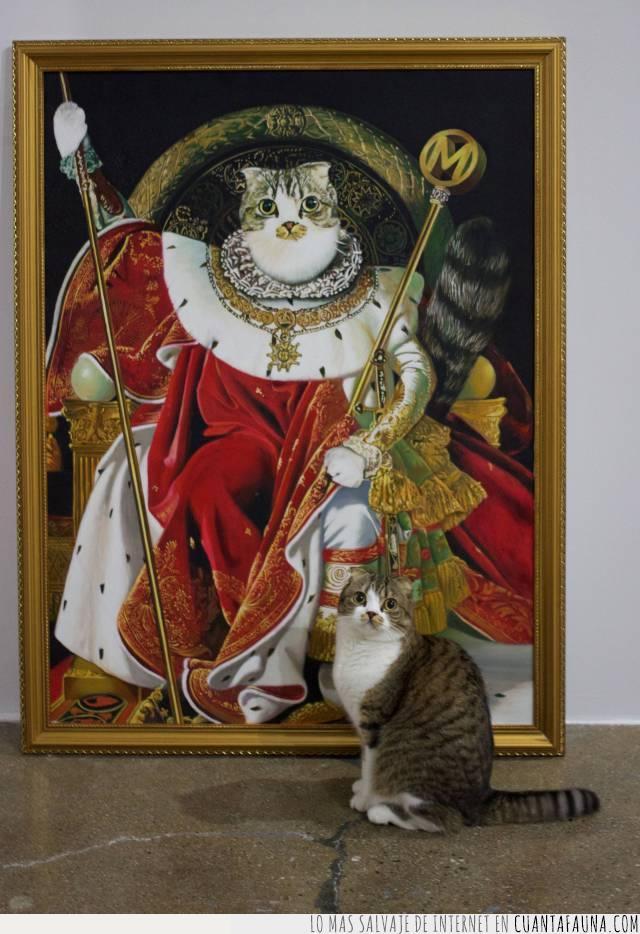 abolengo,alcurnia,ego,gato,realeza,retrato