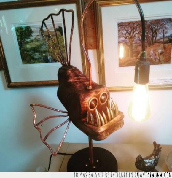 abisal,bombilla,foco,lámpara,luz,pez