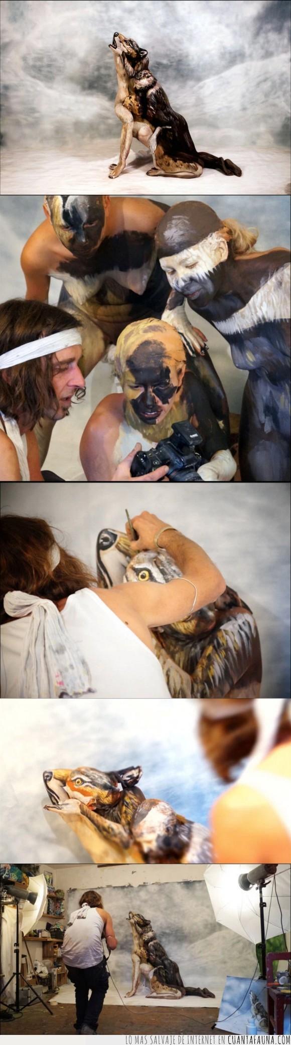 arte,bodies,lobo,pintura
