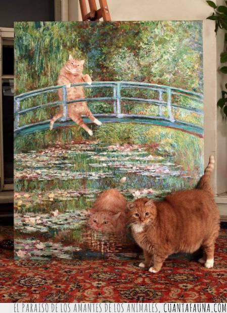 arte,cuadro,gato,pintura,retrato