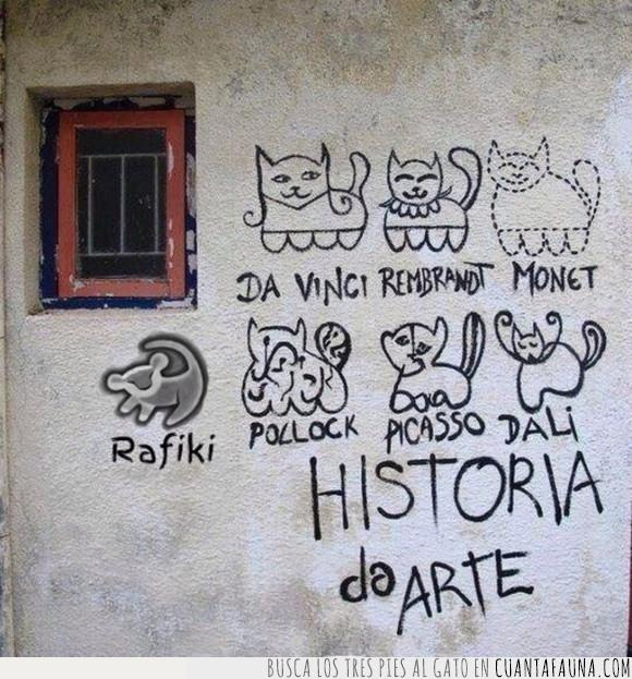 absurder,dibujo,gato,gatos,graffiti,historia del arte,pared
